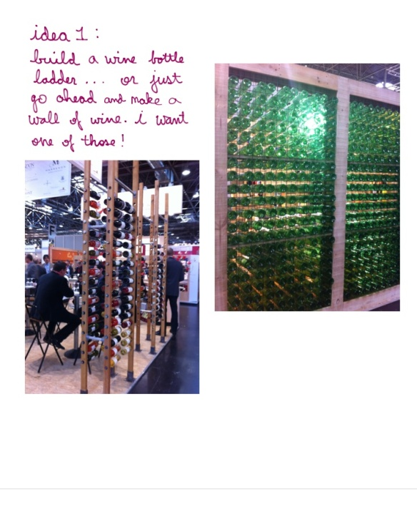 wine bottle wall wine ladder prowein2013 vinodorado